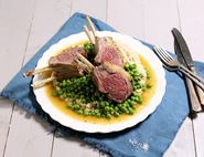 Rack of Lamb with Peas & Butter Bean Mash