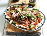 Beef Nachos with Chilli Yogurt