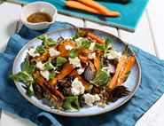 Roast Carrot, Honey & Ricotta Salad
