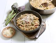 Smoked Lardon & Summer Artichoke Risotto