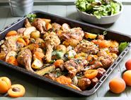 Herby Butter Chicken with Roast Apricots