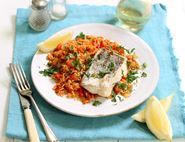 Grilled Hake with Tomato Rice