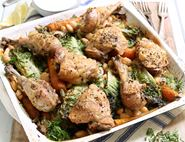 Chicken, Butter Bean & Baby Lettuce Tin Roast