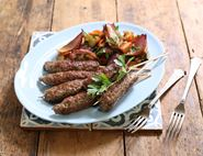 Lamb Koftes with Scorched Red Onion Salad