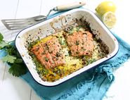 Butter Roast Wild Alaskan Salmon with Lemon, Caper & Parsley