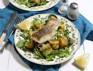 Grilled Pollack with Lemon & Chive Potato Salad
