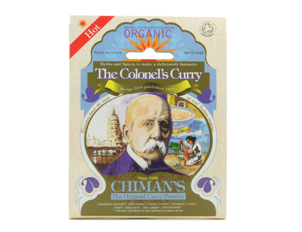 The Colonel's Curry Spice, Hot, Organic, Chiman's (26g)