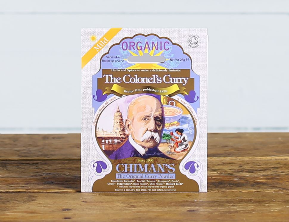 The Colonel's Curry Spice, Mild, Organic, Chiman's (26g)