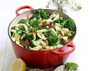 Penne with Broccoli, Chilli & Mint