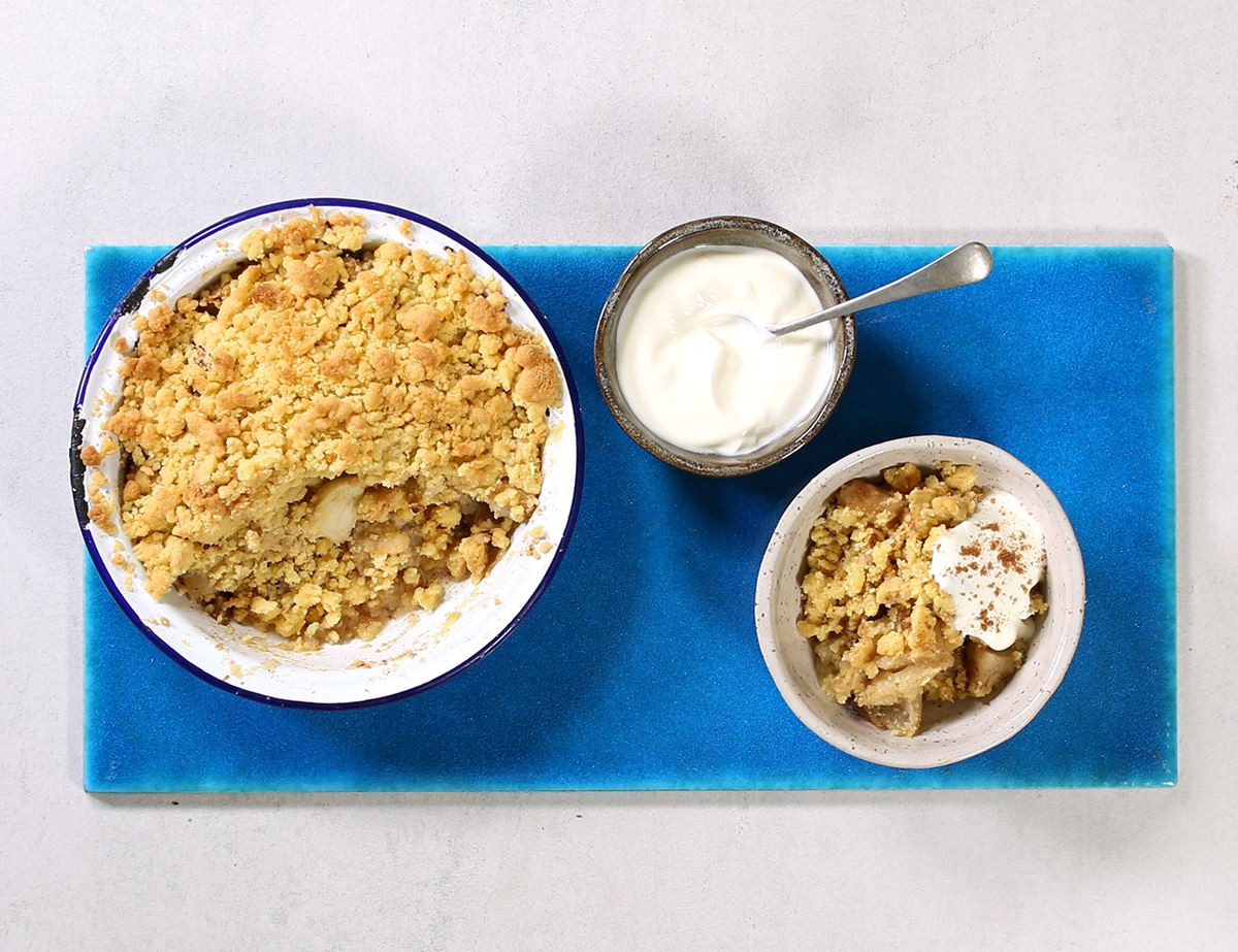 Simple Apple Crumble for Two