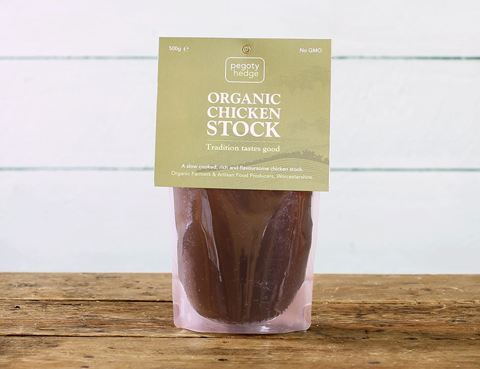 Chicken Stock, Organic, Pegoty Hedge (500g)