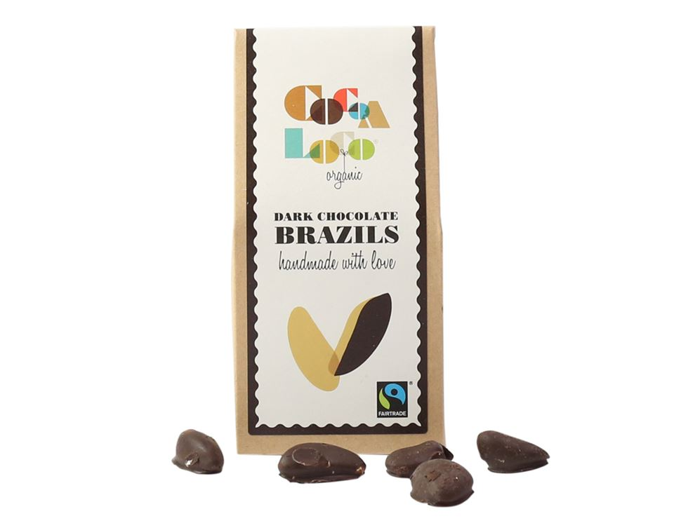 Dark Chocolate Brazil Nuts, Organic, Fairtrade, Cocoa Loco (100g)