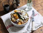 Roast Roots & Goat's Cheese Risotto