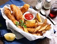 Beer Battered Monkfish & Chips
