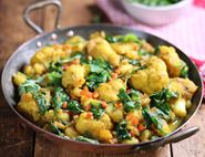 Cauliflower, Potato & Spinach Curry