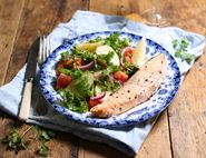 Roast Salmon with Herby Potatoes