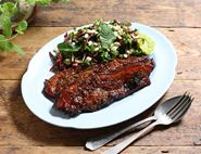 Sticky Honey & Sesame Pork Belly Salad