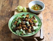 Jerk Grilled Aubergines with Sticky Coconut Rice