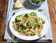 Creamy Smoked Salmon, Mascarpone & Broccoli Pasta