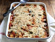 Mediterranean Vegetable & Melting Mozzarella Crumble