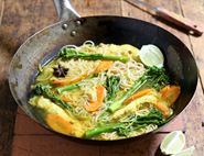 Chicken & Tenderstem® Noodles with Turmeric Broth
