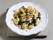 Gnocchi with Feta, Walnuts & Spinach