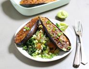 Miso Glazed Aubergines with Noodles