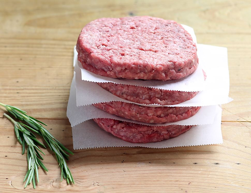 Beefburgers, Organic (460g, pack of 4)