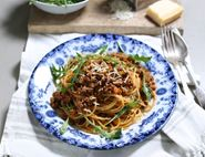 Veal Spaghetti Bolognese with Parmesan