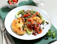 Roast Cauliflower Steaks with Salsa & Lentils