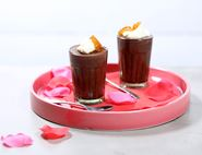 Dark Chocolate Pots with Marmalaid