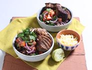 Spicy Pork Burrito Bowls