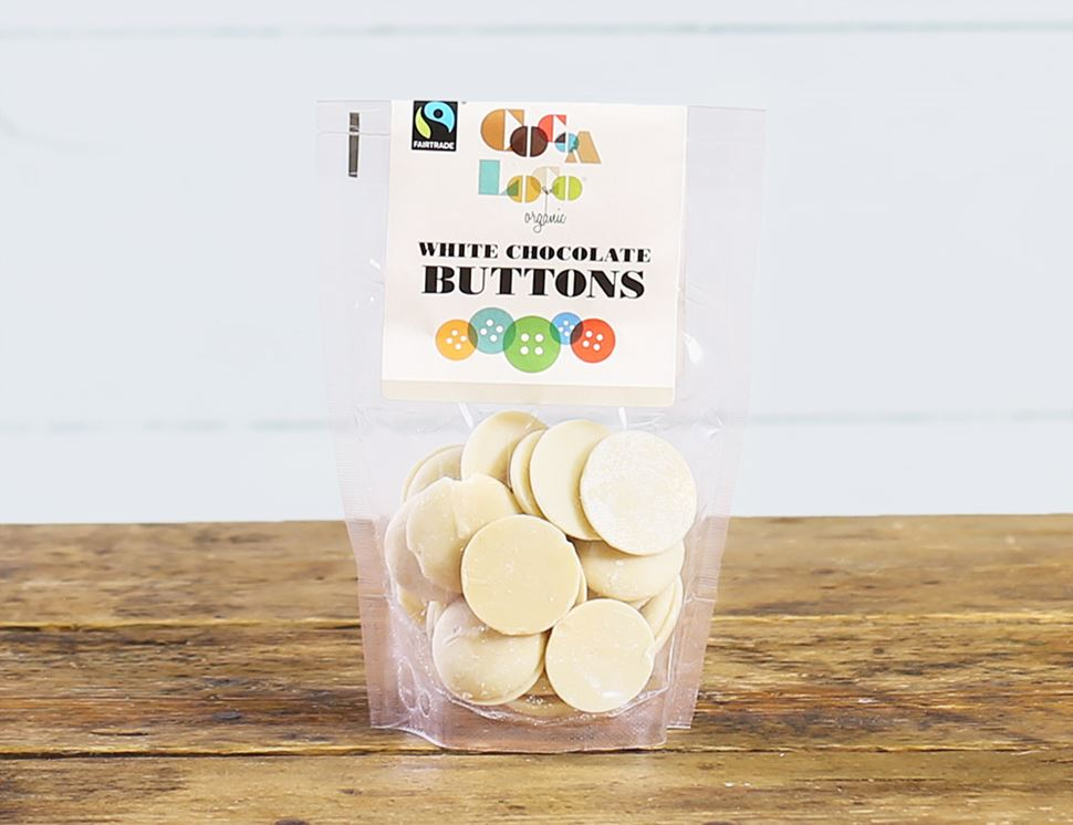 White Chocolate Buttons, Organic, Cocoa Loco (100g)