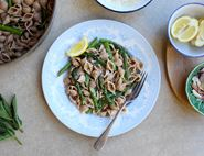 Buttery Spelt Pasta with Anchovies & Asparagus