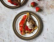 Sweet Crêpes with Strawberries, Hazelnut Chocolate Spread & Cream