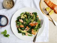 Hot Smoked Salmon, Avocado & Kale Salad