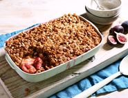 Fig & Apple Flapjack Crumble