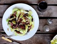 Warm Pigeon & Mushroom Salad with Red Wine Dressing