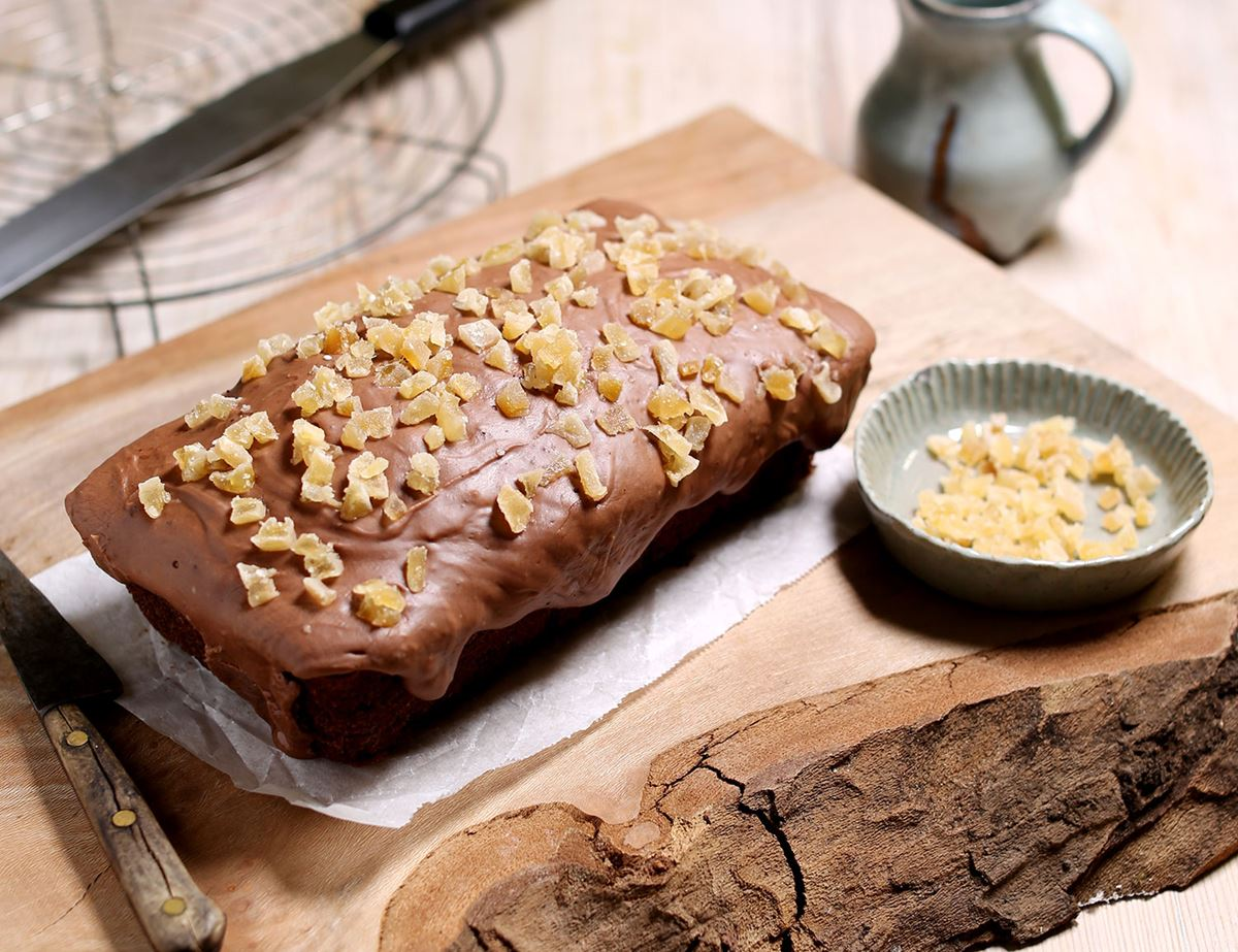 Damp Chocolate & Ginger Loaf Cake