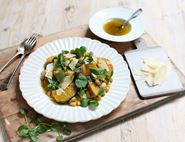 Roast Golden Beetroot, Haricot Bean & Parmesan Salad