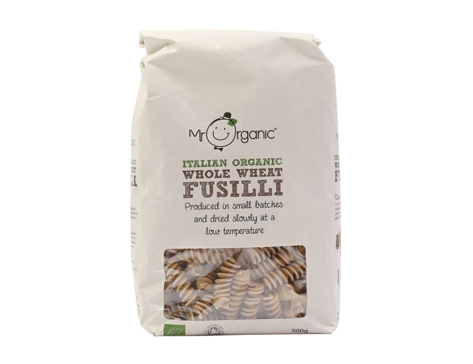 Whole Wheat Fusilli, Mr Organic (500g)
