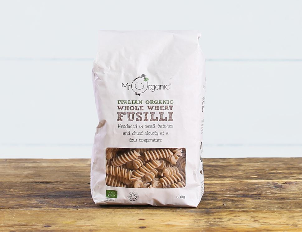 Whole Wheat Fusilli, Organic, Mr Organic (500g)