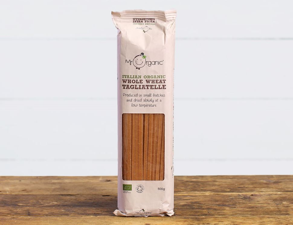Whole Wheat Tagliatelle, Organic, Mr Organic (500g)