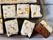 Carrot Cake Tray Bake with MarmalAID & Mascarpone Frosting
