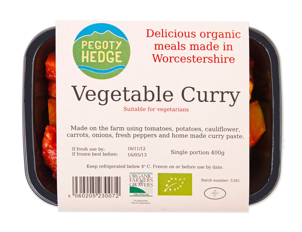 Vegetable Curry, Organic, Pegoty Hedge (400g)
