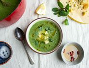 Broccoli, Cavolo Nero & Blue Cheese Soup