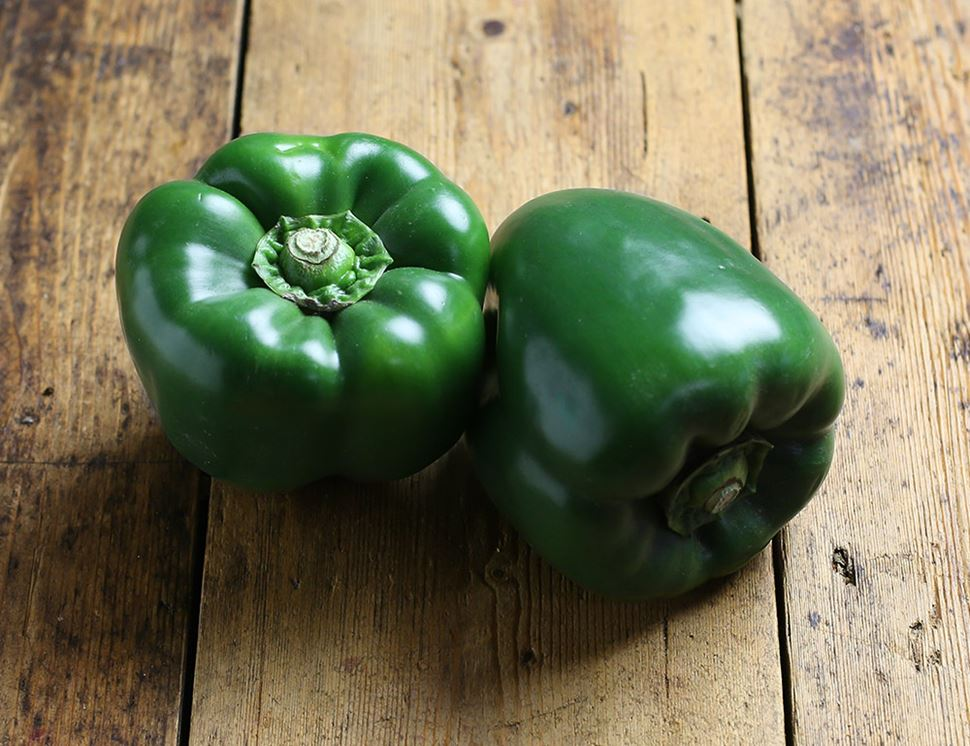 green pepper organic 2 pieces abel cole