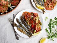 Barbecued Sardines with Panzanella Salad