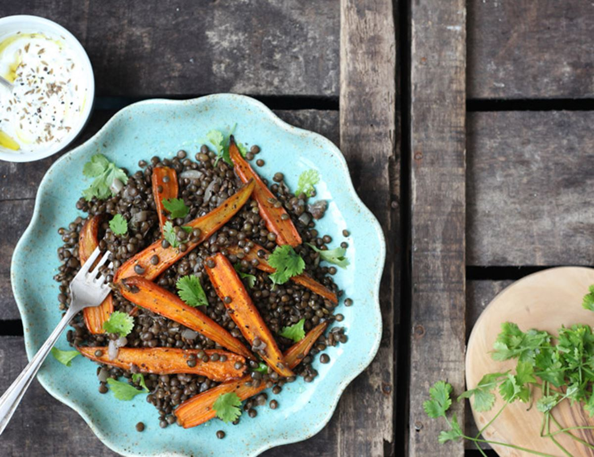 Any Veg Lentils with Cumin Yogurt