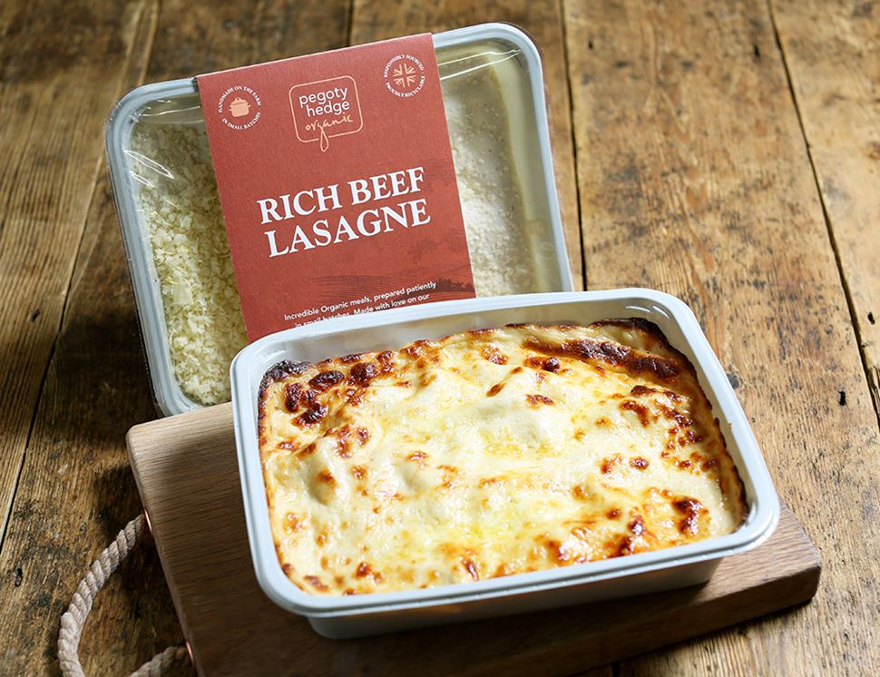 Beef Lasagne, For Two, Organic, Pegoty Hedge (800g)